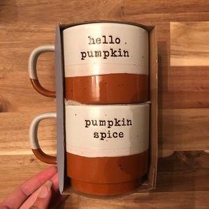Pumpkin spice hello pumpkin seasonal mug set